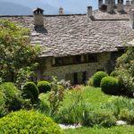 Gartenansicht auf Bergell Ferienhaus 151