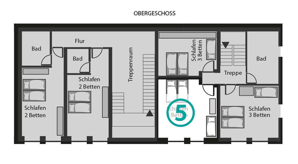 Grundriss Zimmer 5