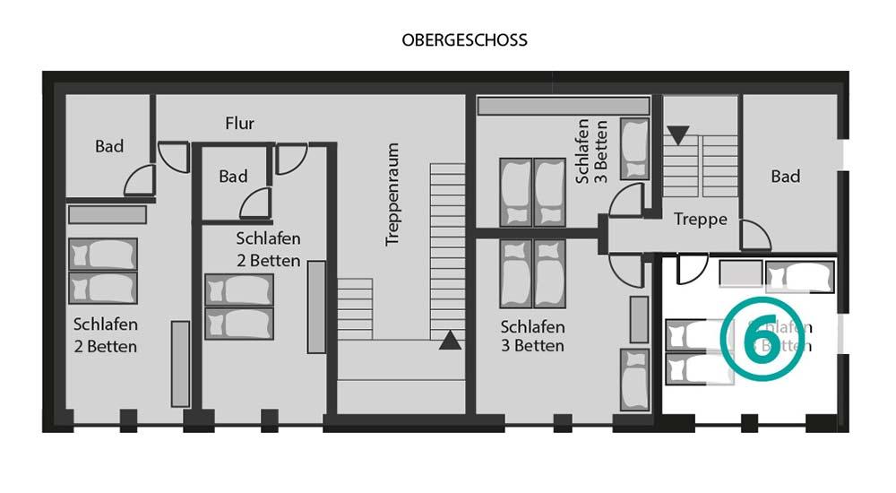 Grundriss Zimmer 6