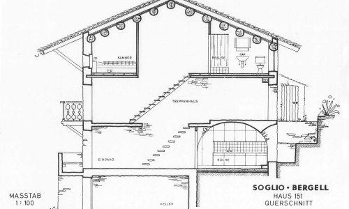 Soglio Haus 151 Schnitt
